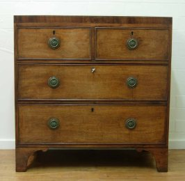 Four drawer George III chest front on