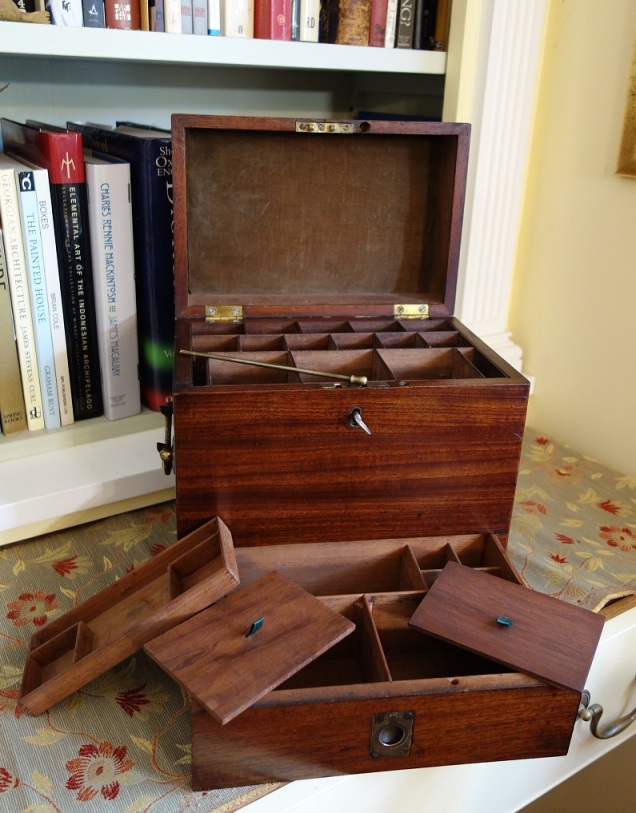 Georgian medicine box disassembled