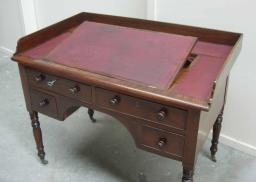 Mahogany Kneehole desk raised slope
