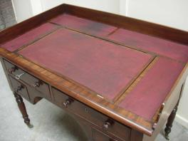 Mahogany kneehole desk top