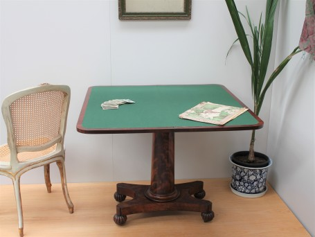 William IV card table (open)