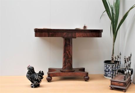 William IV mahogany card table