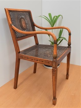 Neo-classical revival caned chairs 5